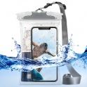 Водонепроницаемый чехол Ringke Waterproof Pouch цвет серый, размер 18см Х 12см