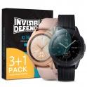 Защитное стекло для часов Samsung Galaxy Watch 42 mm - Invisible Defender IDGLASS 0.33mm (4 шт.)